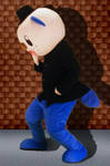 Mascot Fursuiting: Oshawott Noire Dramatic Ponder