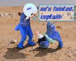 'He's Fainted, Captain!' (Oshawott Fursuiting)