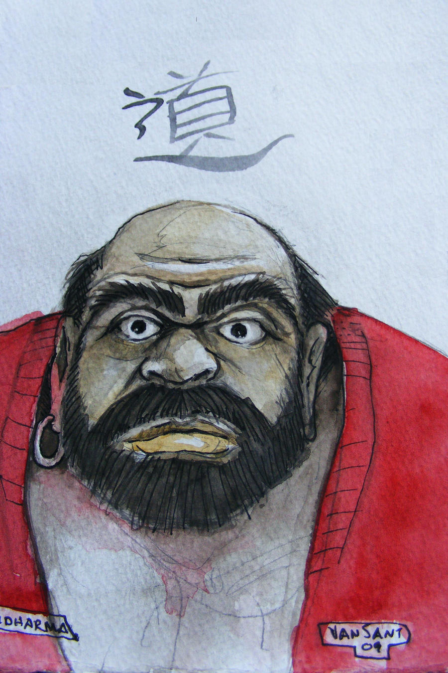Bodhidharma by deviantmike423