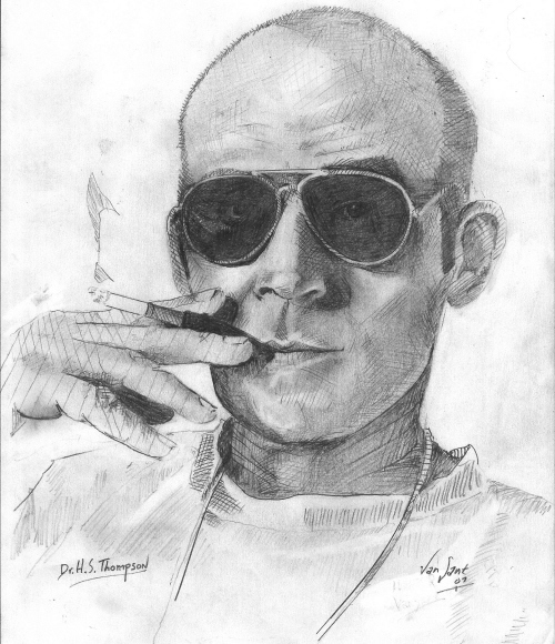 Hunter S. Thompson by deviantmike423