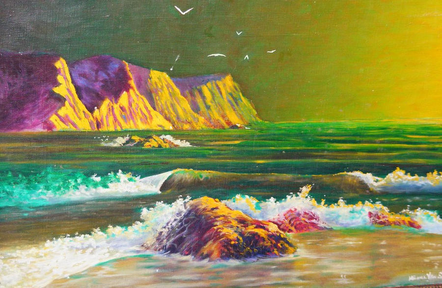 Phosphorescent Beach by deviantmike423