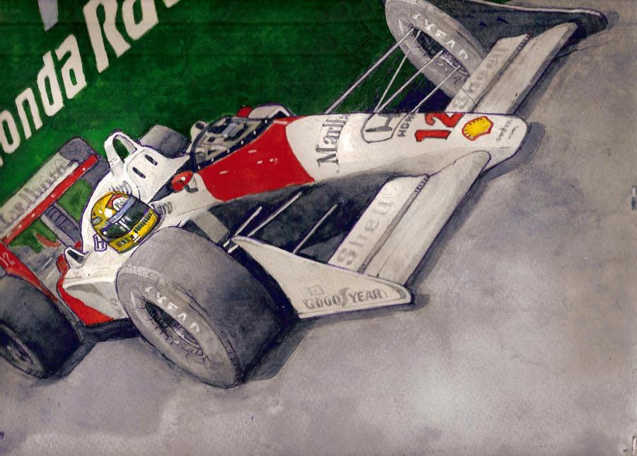 Ayrton Senna's McLAREN HONDA by deviantmike423