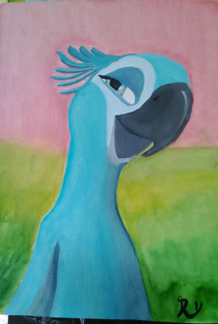 Rio - Jewel (Water color painting testig no.1 ) by TylerBluGunderson01
