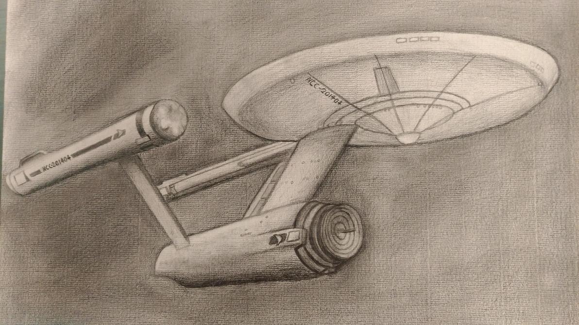 Star Trek TOS Constitution class - sketching by TylerBluGunderson01