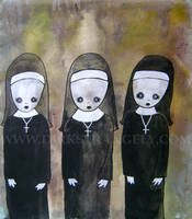 DIRK STRANGELY Three Nuns by dirkstrangely