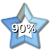 Star Progress Bar - 90% by ColMea