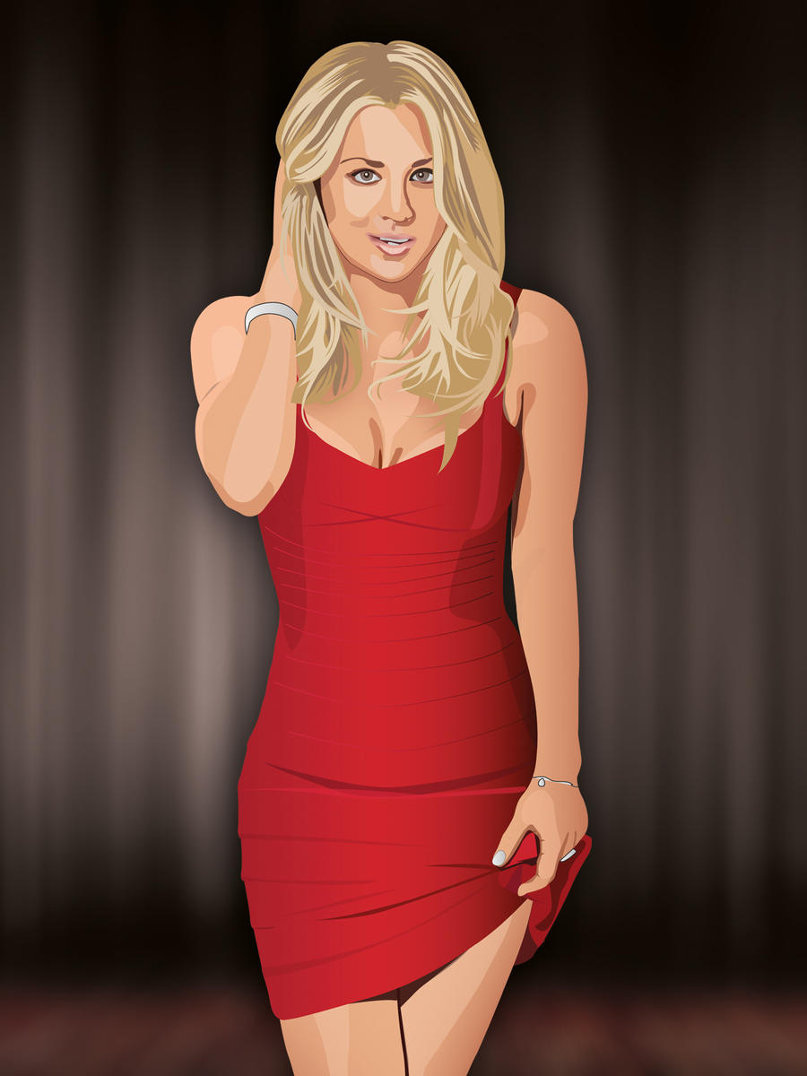 Kaley Cuoco - Penny Big Bang Theory - Vector By -8371