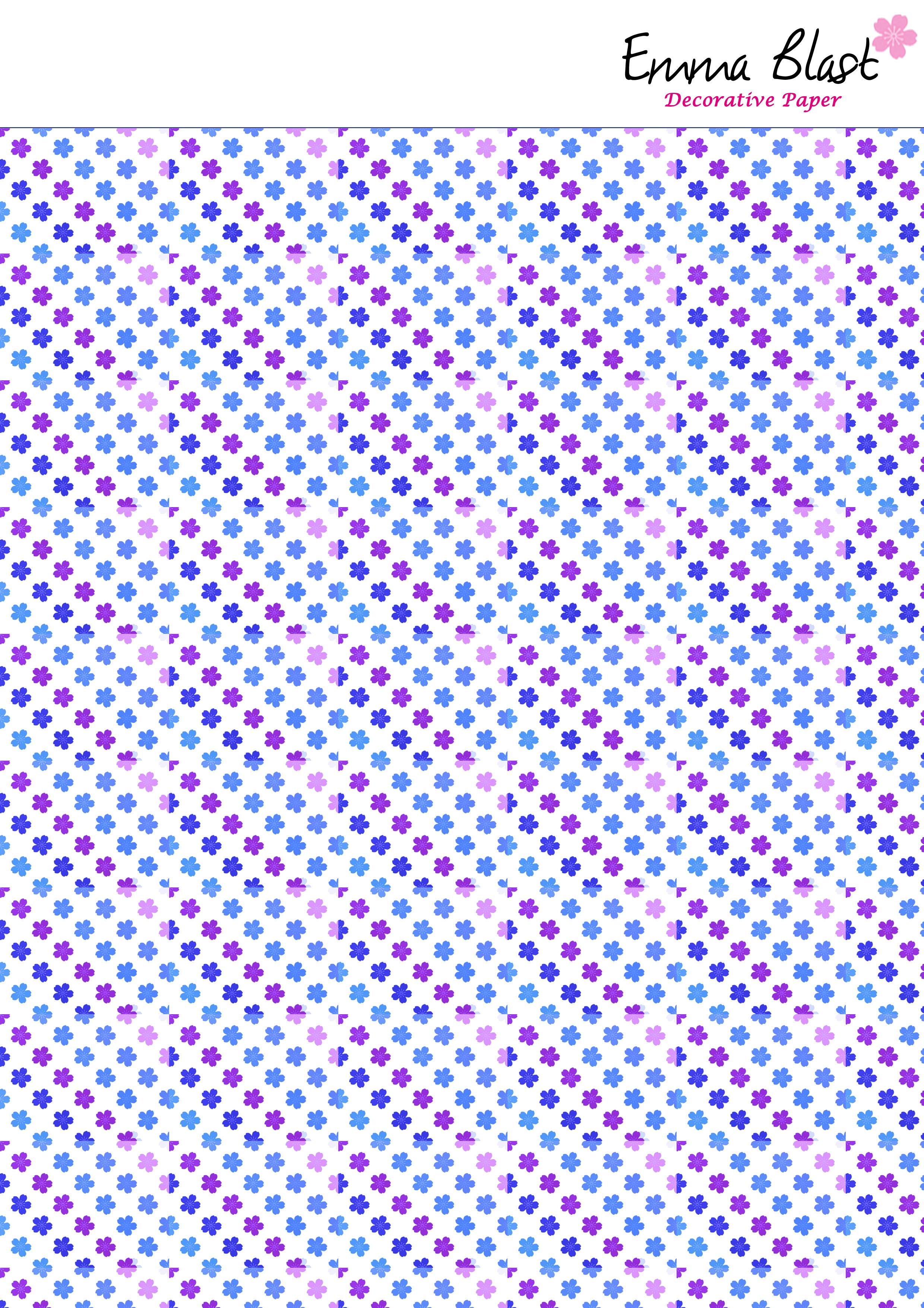 Papel Decorativo Tono Azul