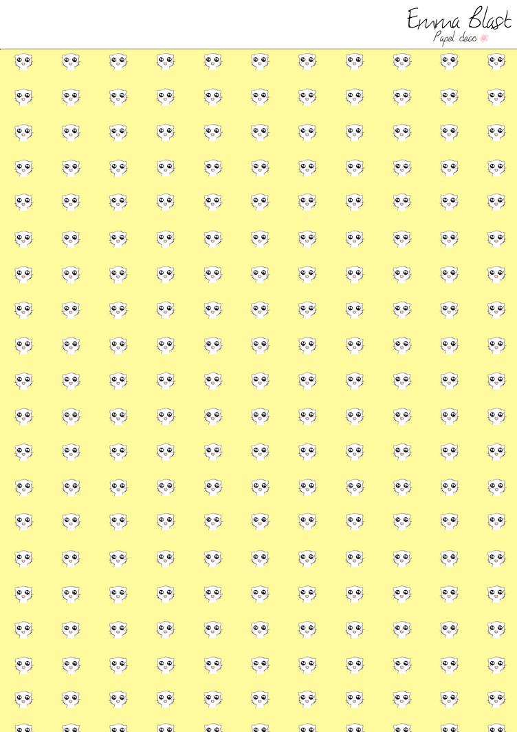 Scrapbook paper kawaii - Kawaii Edition Scrapbook Paper 5 Papel Deco By Emmablast