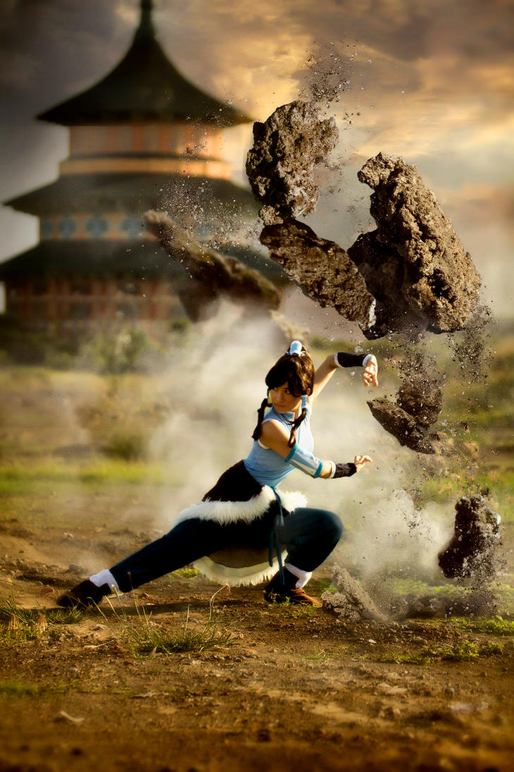 Korra Earth Bending by RacoonFactory