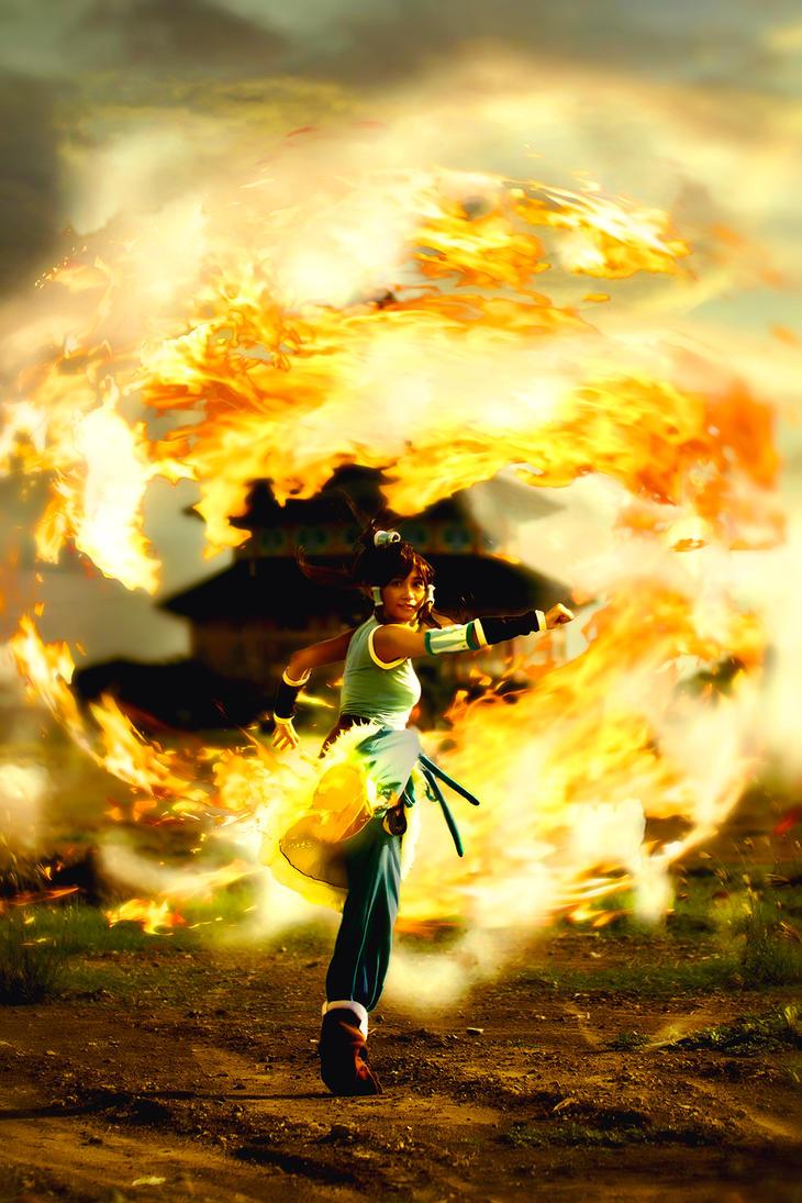 Korra Firebending by RacoonFactory