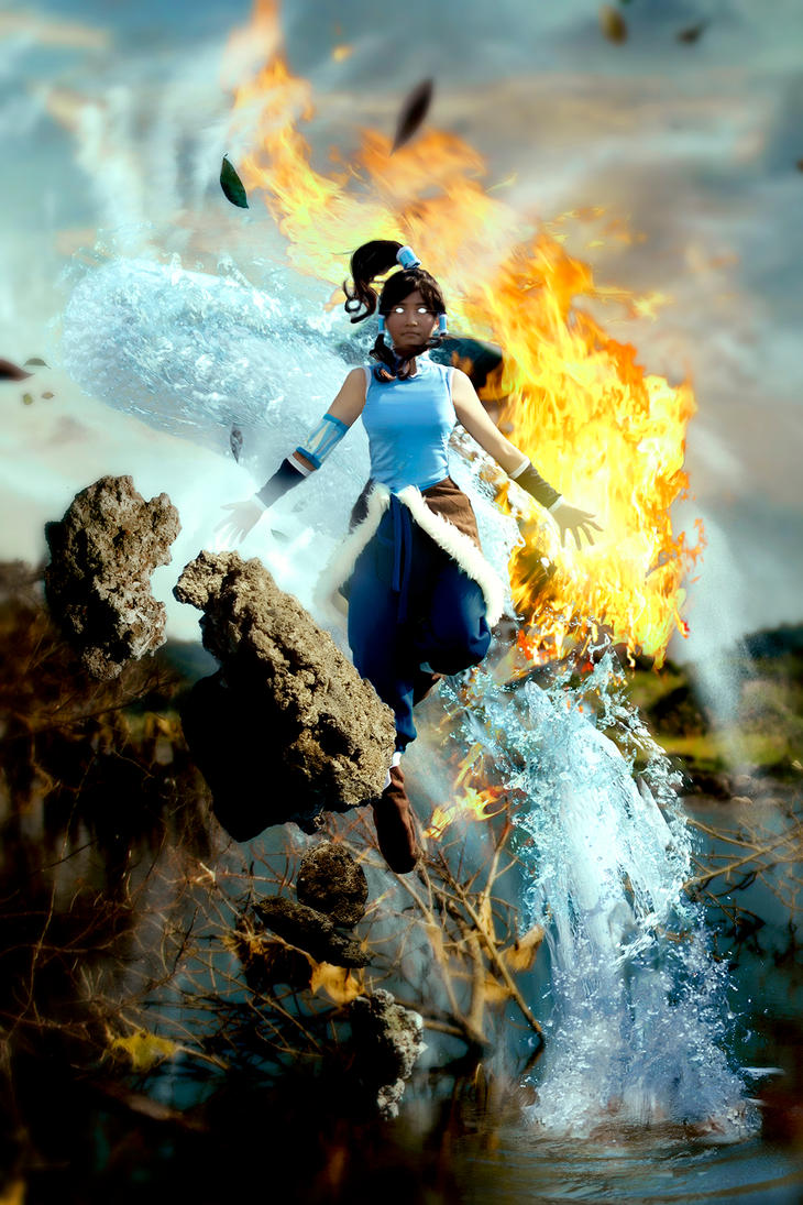 Korra In Avatar State by RacoonFactory