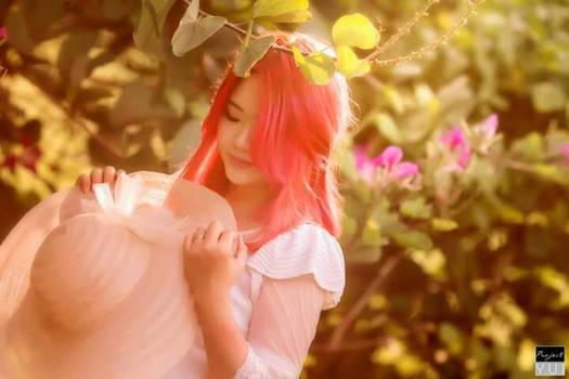 Sun,  Flowers,   Girl