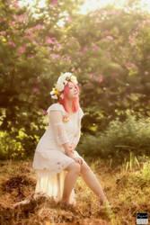 Sun, Flowers,  Girl II