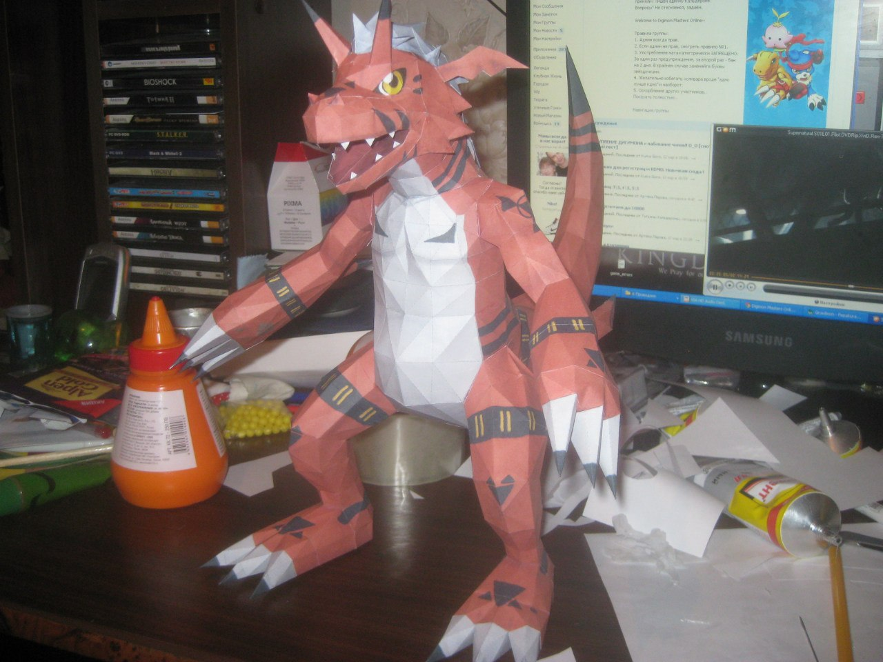 Growlmon papercraft by Zimberdum
