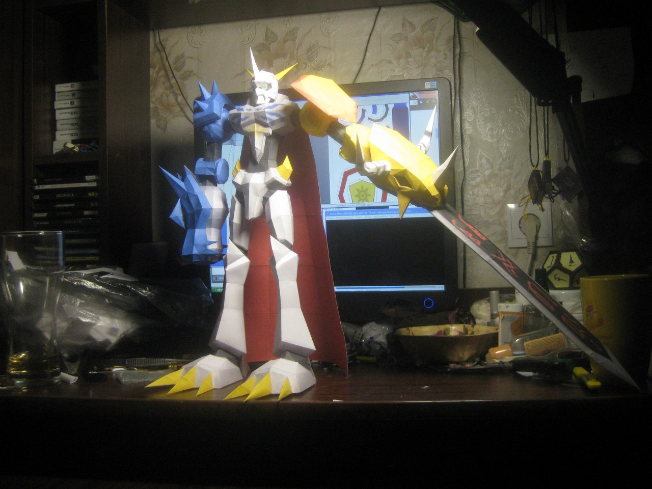Omnimon papercraft front side by Zimberdum