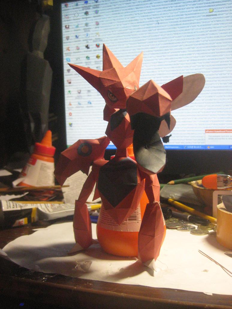 Scizor papercraft by Zimberdum