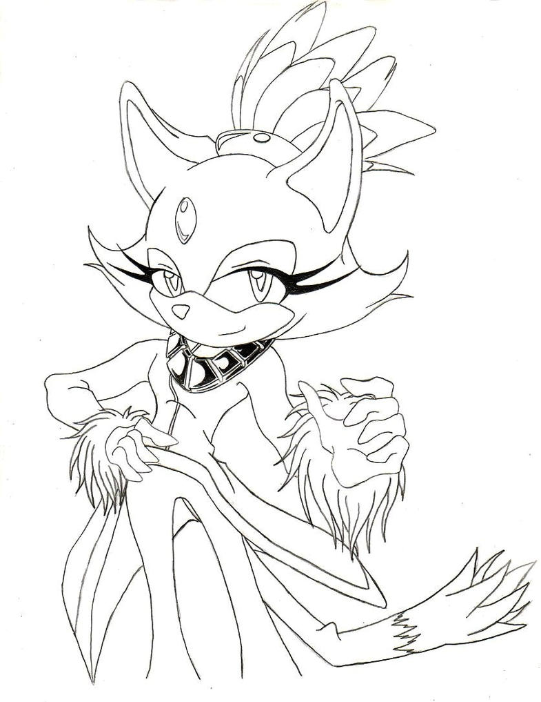 Old art blaze the cat by brodogz on deviantart for Blaze the cat coloring pages