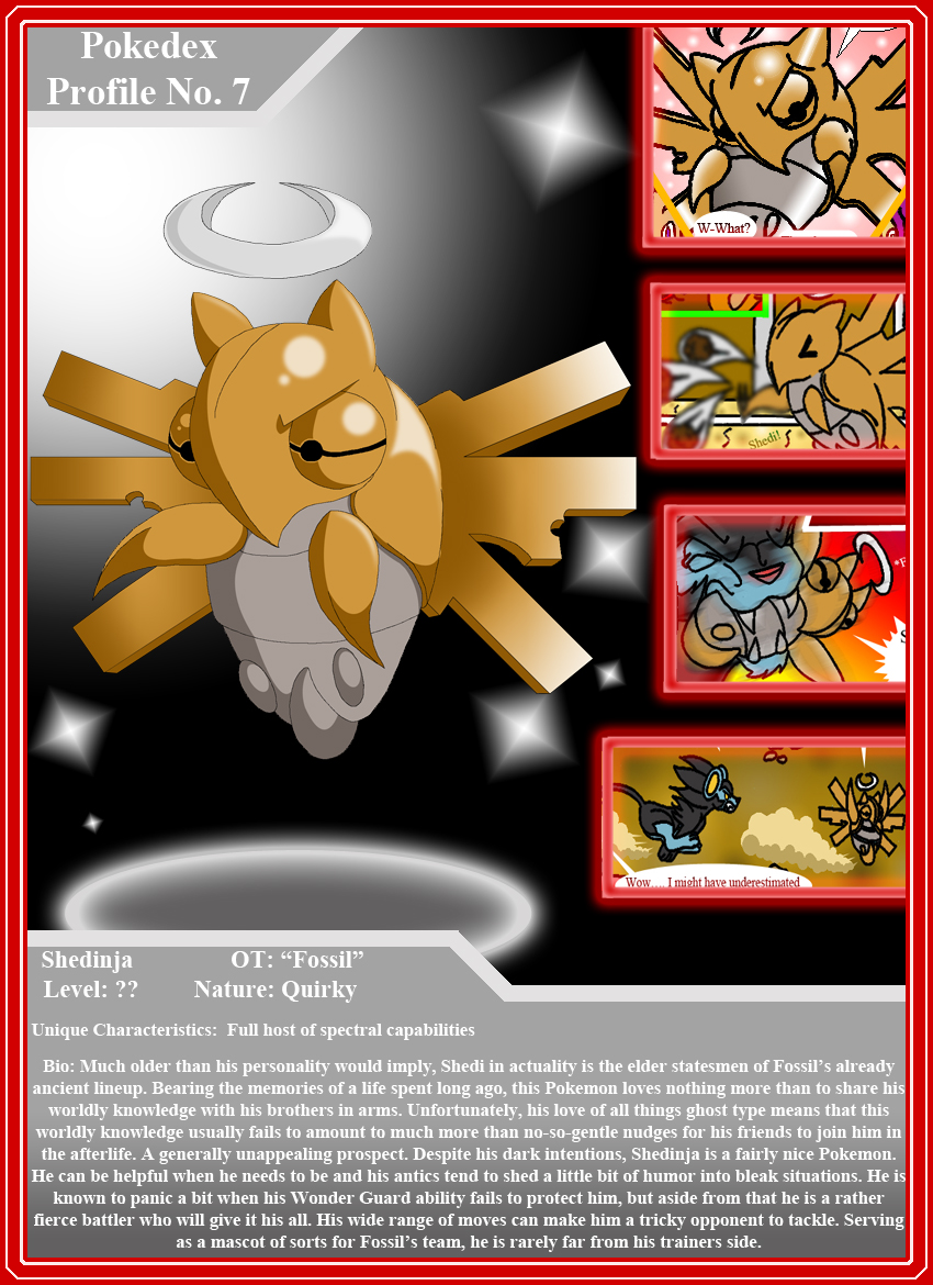 Pokedex Profile # 7 - Shedinja by BroDogz
