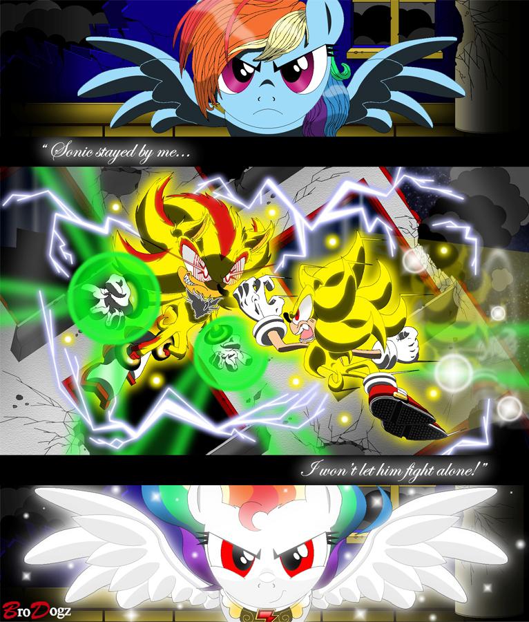 Com: Sonic Shadow Rainbow Dash - Chaos Ascension by BroDogz