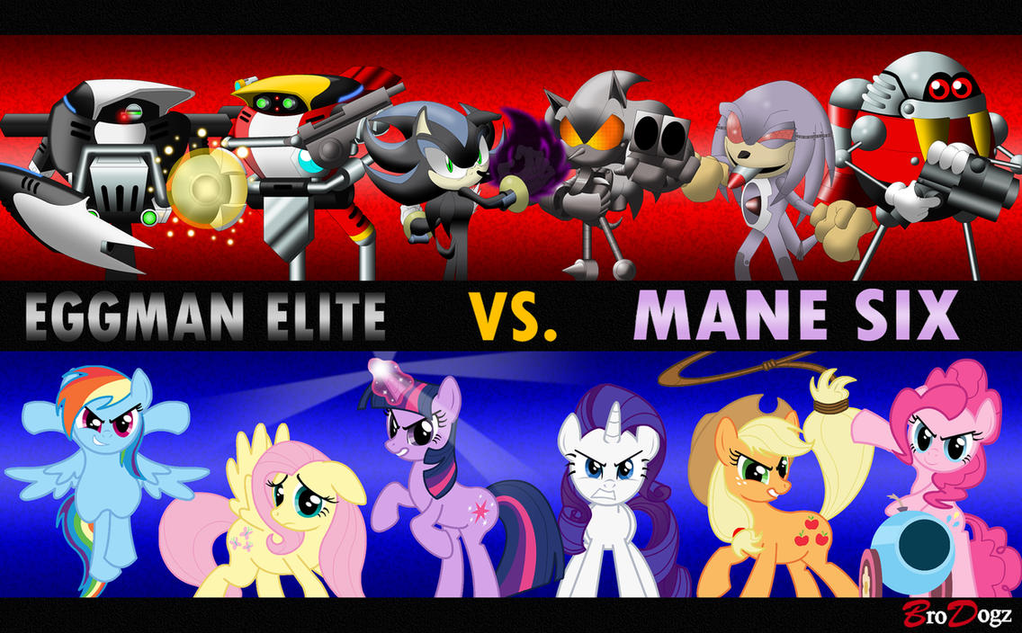Commission: Sonic and MLP - Battle Royal by BroDogz