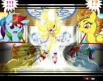 Comm: Sonic, Rainbow Dash, Spitfire - Awestruck