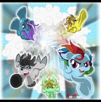 Comm: Rainbow Dash - Falling Faster by BroDogz