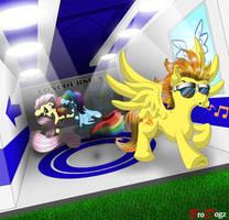 Comm: Spitfire Dash Fluttershy - Destiny Denied by BroDogz