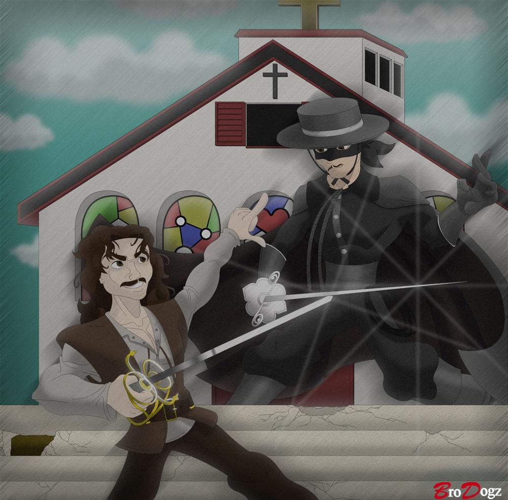 Commission: Zorro vs Inigo - Freeze Frame by BroDogz