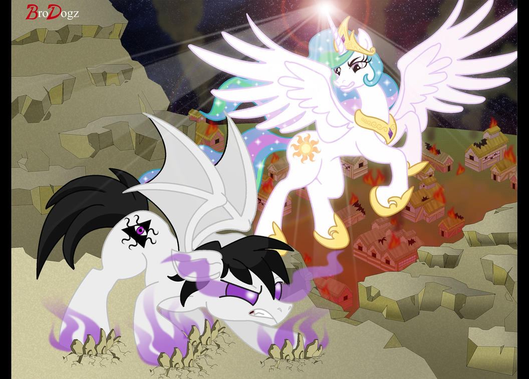 Comm: Celestia and Malcontent - This Ends Here by BroDogz