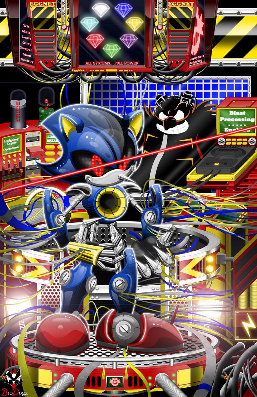 Metal Sonic: Metal Matrix - Color by BroDogz