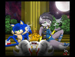 Sonic Tails and Lupe : Moonlight Watch by BroDogz