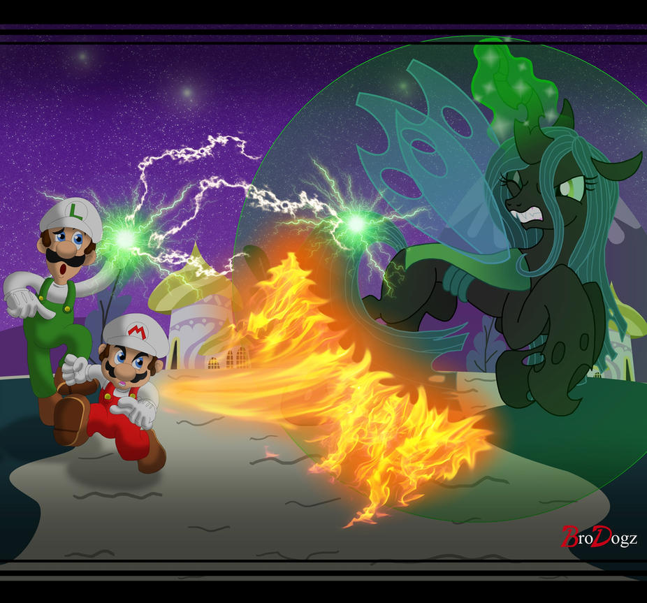 Comm: MLP v Mario - Duel with a Duo by BroDogz