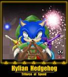 Sonic: Hylian Hedgehog - Triforce of Speed by BroDogz