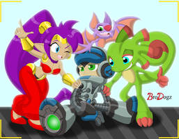 Comm: Shantae, Beck, YookaLayee - Brighter Future by BroDogz