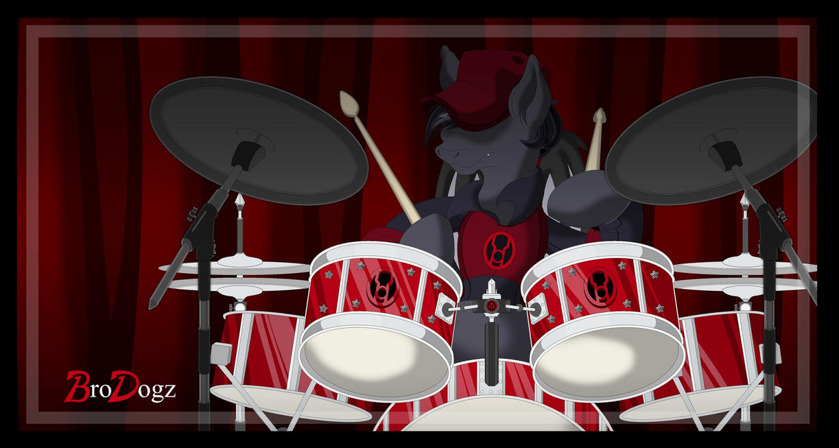 Commission: MLP Batty - Drum Solo by BroDogz