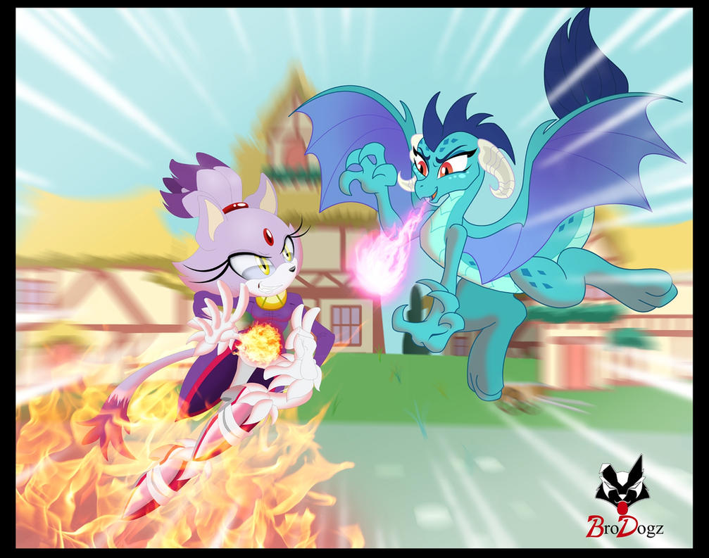 Comm: Blaze and Ember - Pyro Princess Parlay by BroDogz