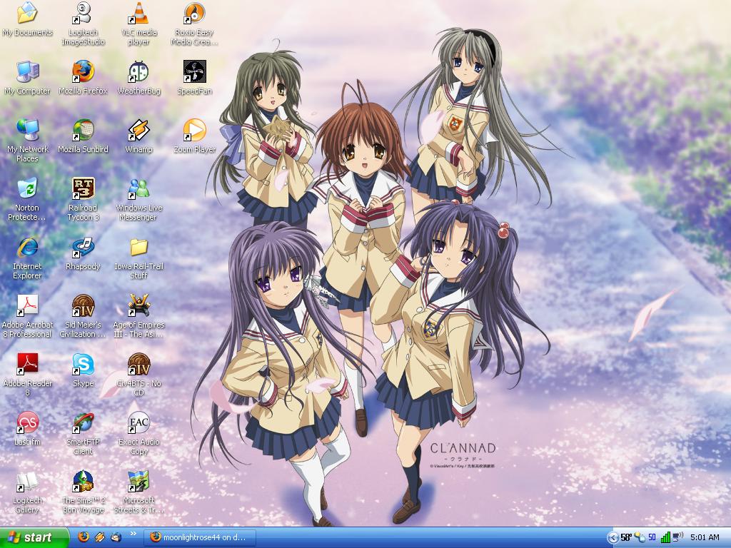 Desktop 4.24.2008 Clannad by moonlightrose44