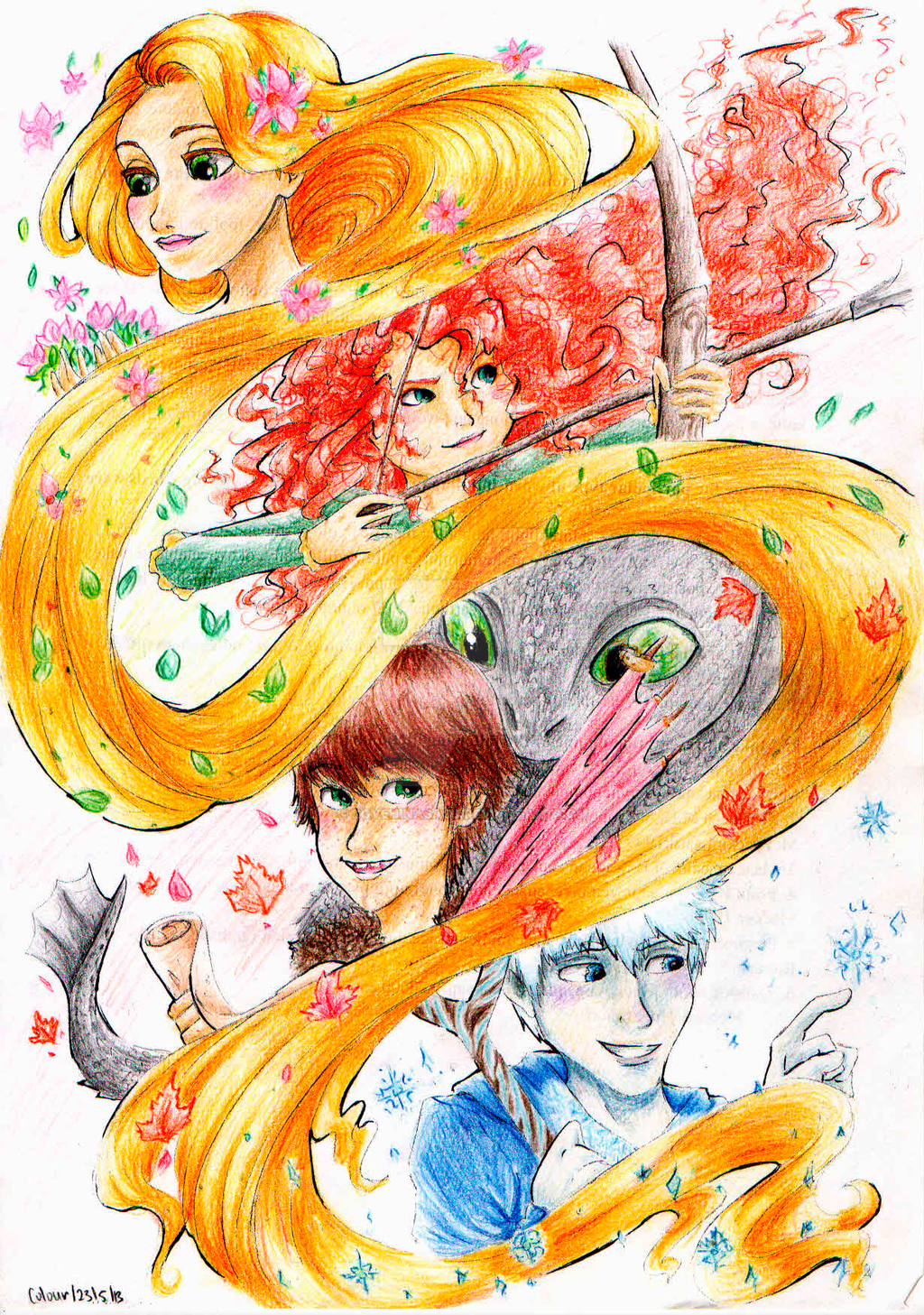 The Big Four Seasons(Coloured) by loveHinaSasu