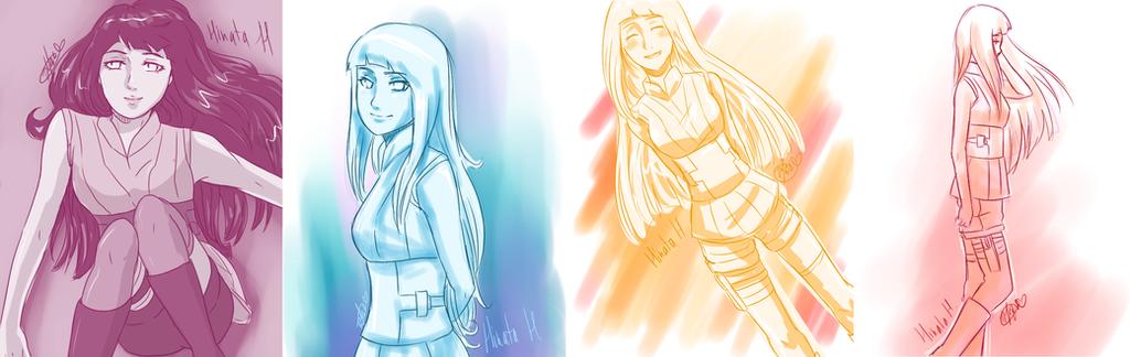 Hinata The Last sketches by loveHinaSasu