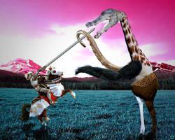 Knight versus Beast by Vimsetos