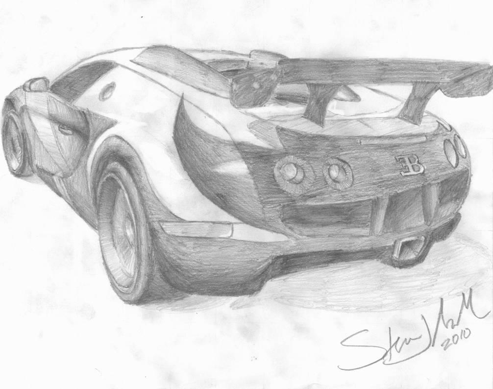 Bugatti Veyron Pencil Sketch By Drednought08 On Deviantart