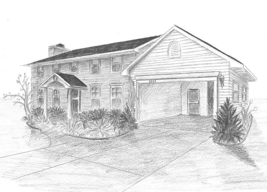 House Sketch By Drednought08 On Deviantart