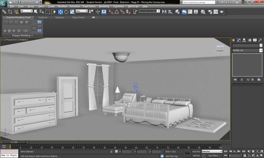 3ds max 2012 the bedroom design by ghostjason on deviantart for Room design 3ds max