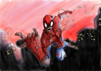 Zombie Spider Man by A-Free-MAN
