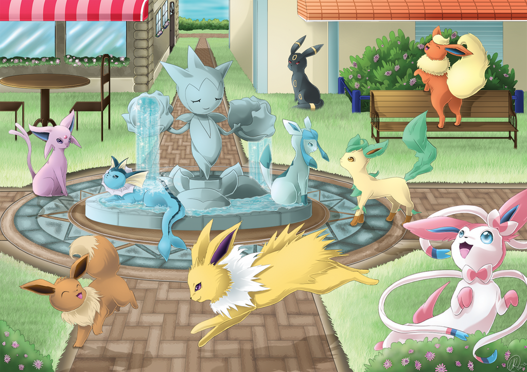 Eevee and Friends: Pokemon X and Y by RainbowRose912