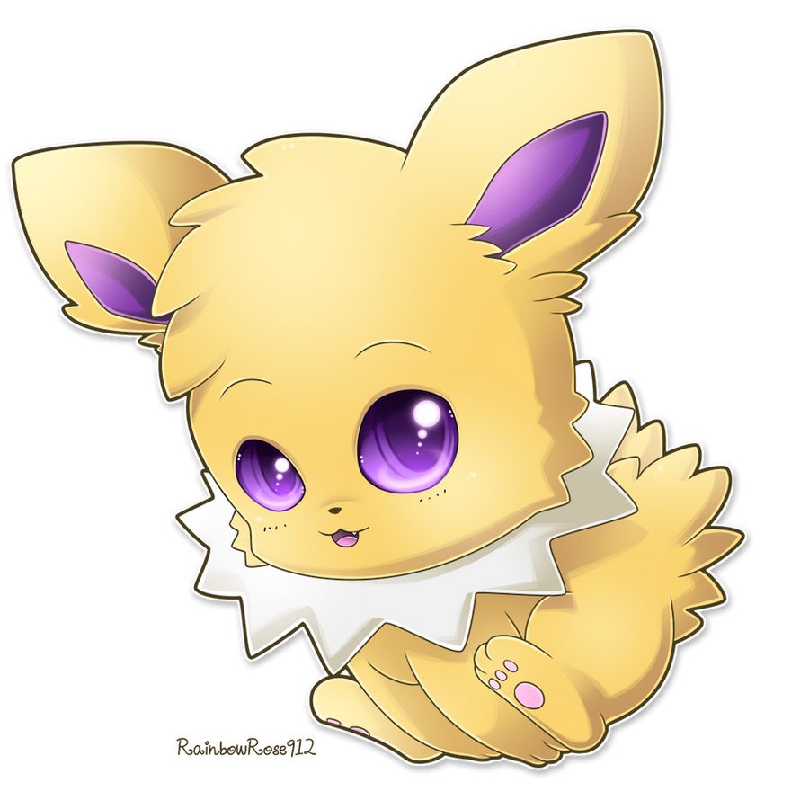 Chibi Jolteon by RainbowRose912 on DeviantArt