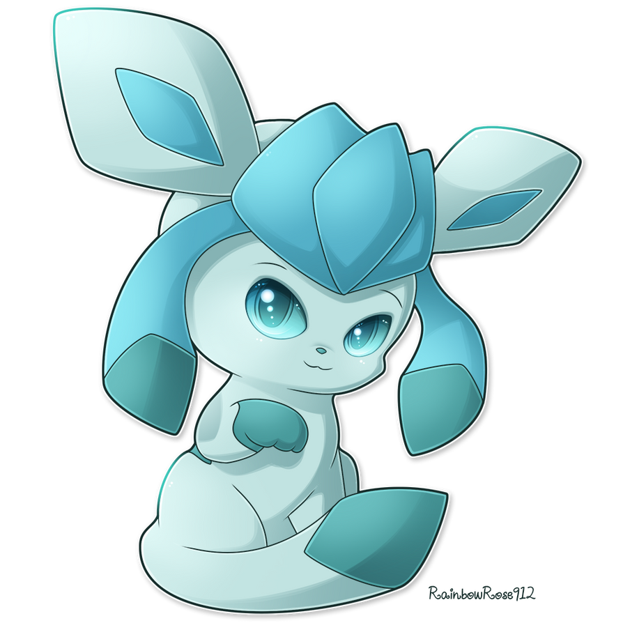Chibi Glaceon by Rainb...