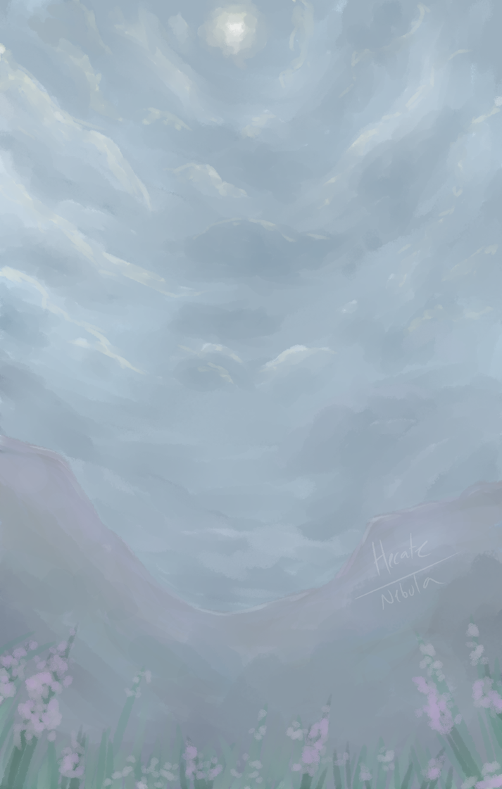 grey skies are no more [one layer challenge] by Hecate-Art