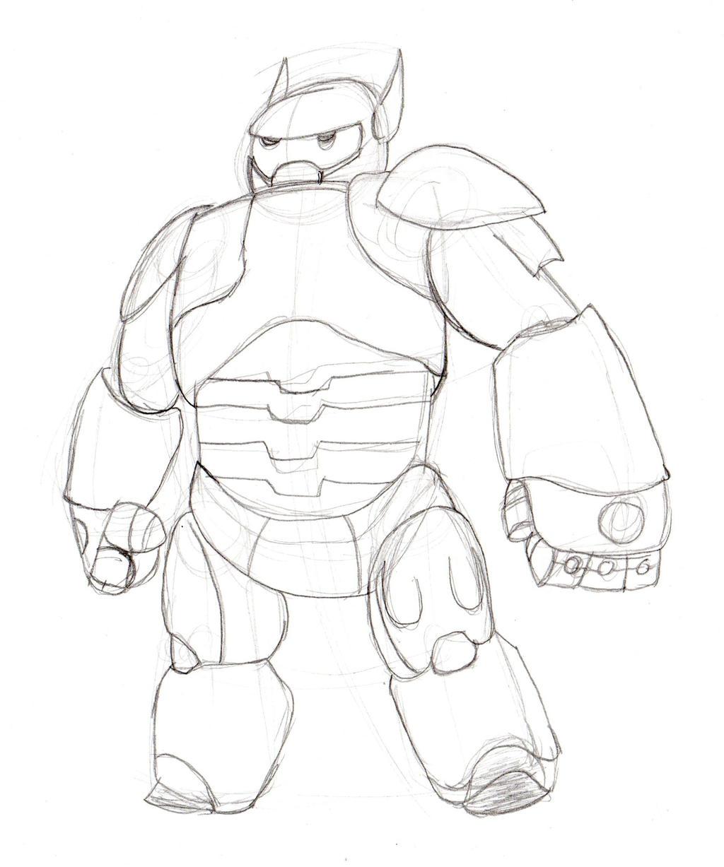 Big Hero 6 Baymax - Sketch By LightDragon87 On DeviantArt